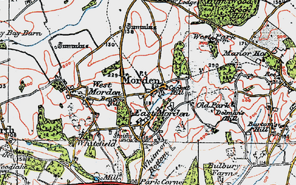 Old map of Whitmore Bottom in 1919