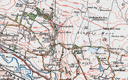 Old map of East Morton in 1925