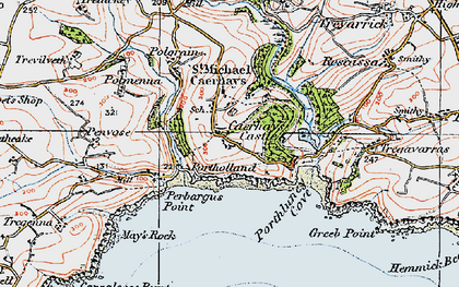 Old map of East Portholland in 1919