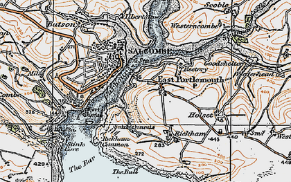 Old map of West Prawle in 1919