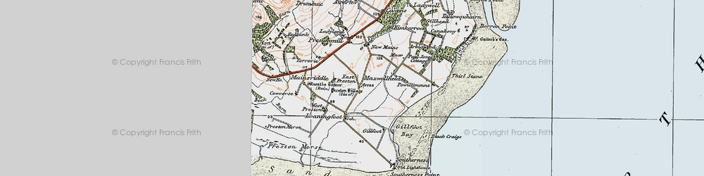Old map of West Preston in 1925
