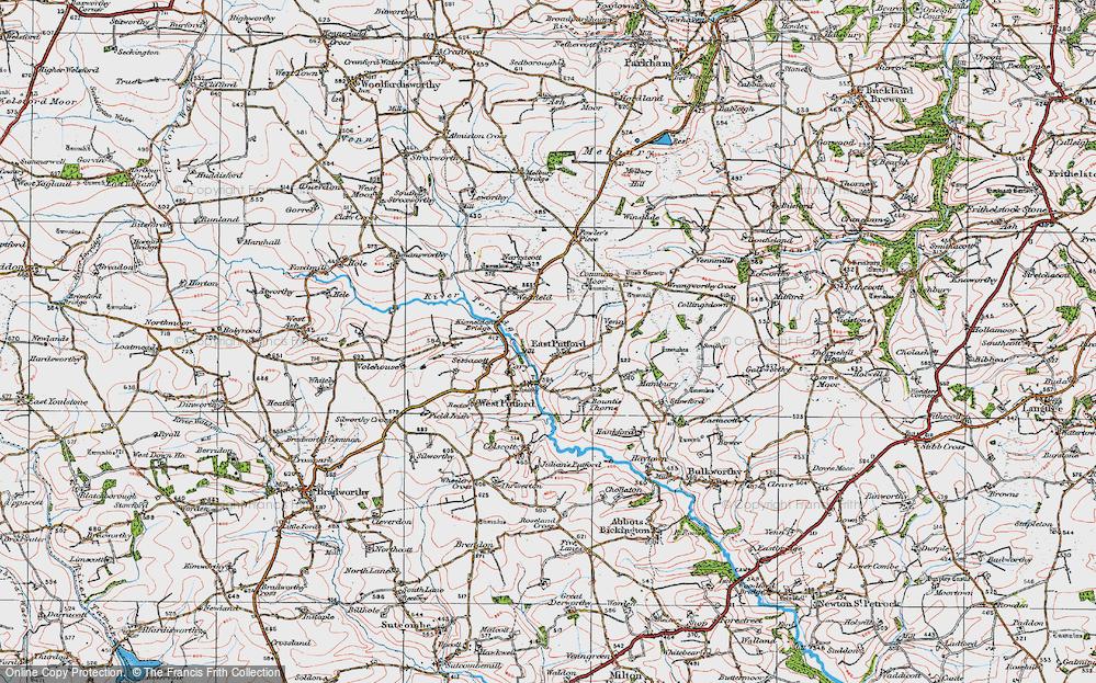 Old Map of East Putford, 1919 in 1919