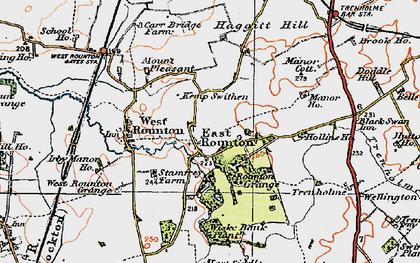 Old map of Wiske Bank Plantn in 1925