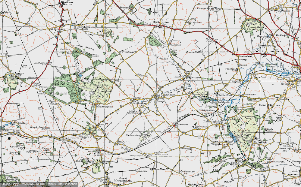 Old Map of East Rudham, 1921 in 1921