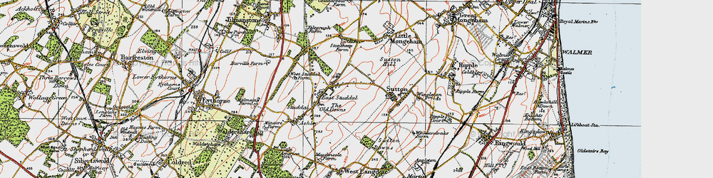 Old map of White Cliffs Country Trail in 1920