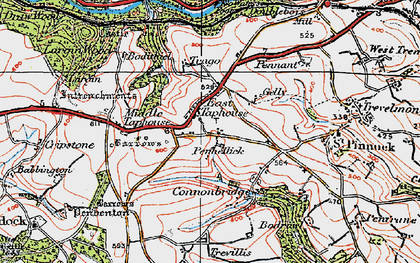 Old map of East Taphouse in 1919