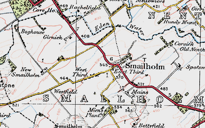 Old map of Whitehouse in 1926