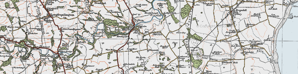 Old map of Wintrick in 1925
