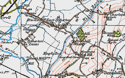 Old map of East Tytherton in 1919