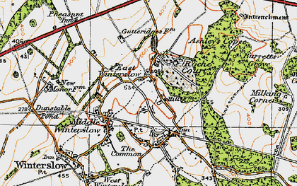 Old map of Ashley's Copse in 1919