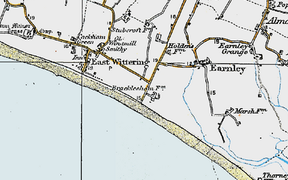 Old map of East Wittering in 1919