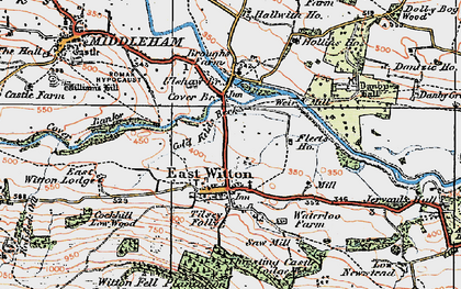 Old map of East Witton in 1925