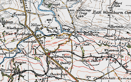 Old map of Whetstone Ho in 1925