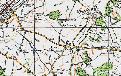 Old map of East Worldham in 1919