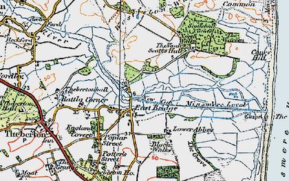 Old map of Westleton Walks in 1921