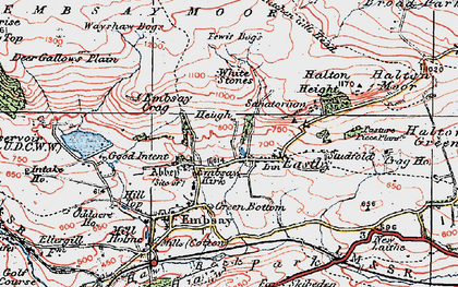 Old map of Barden Moor in 1925