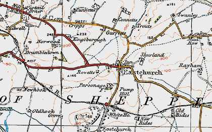 Old map of Eastchurch in 1921