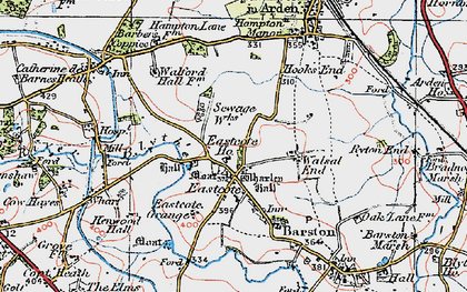 Old map of Wharley Hall in 1921