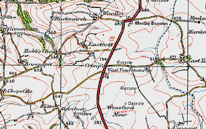 Old map of Eastcott in 1919