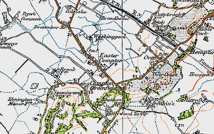 Old map of Easter Compton in 1919