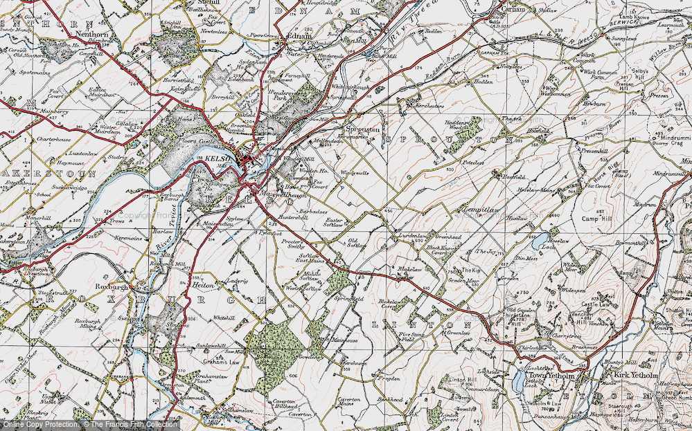 Old Map of Historic Map covering Wooden Ho in 1926
