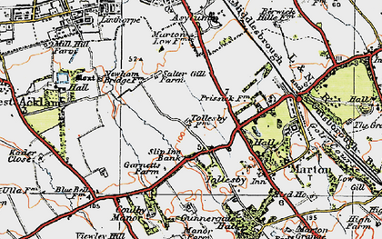 Old map of Easterside in 1925