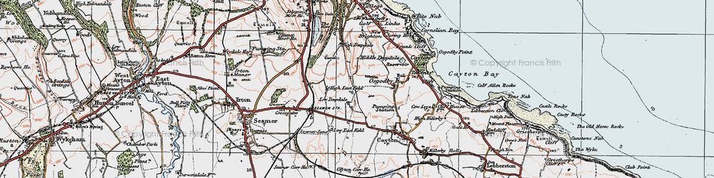 Old map of White Nab in 1925