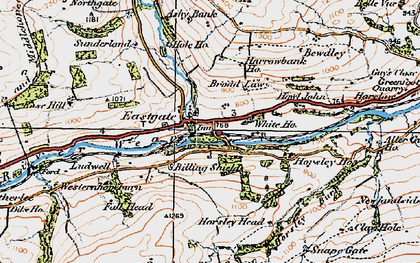 Old map of Eastgate in 1925