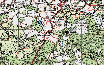 Old map of Easthampstead in 1919