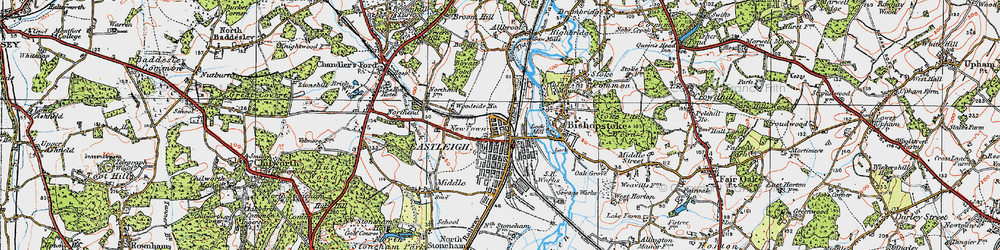 Old map of Eastleigh in 1919