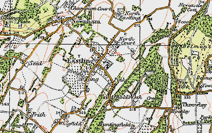 Old map of Tong Ho in 1921