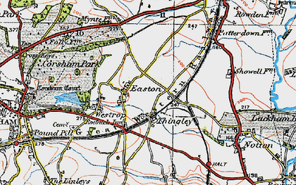 Old map of Easton in 1919