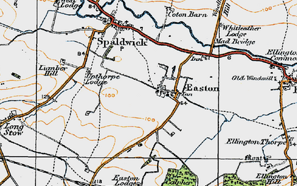 Old map of Whitleather Lodge in 1919