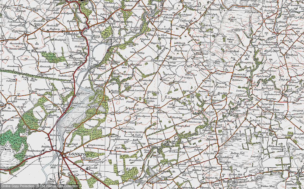 Old Map of Historic Map covering Baileytown in 1925