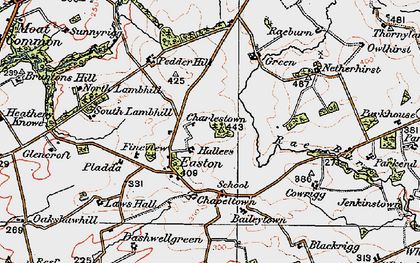 Old map of Baileytown in 1925