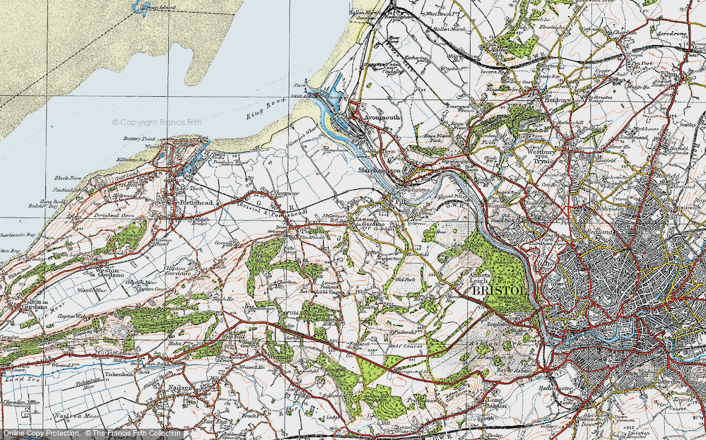 Old Map of Easton-in-Gordano, 1919 in 1919