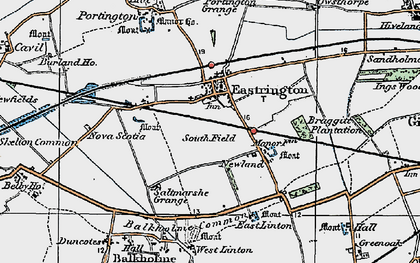 Old map of Balkholme Common in 1924