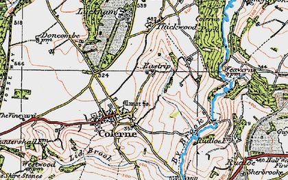 Old map of Eastrip in 1919