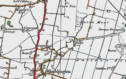 Old map of Latches Fen in 1920
