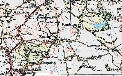 Old map of Eaton in 1923