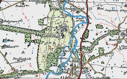 Old map of Eaton Hall in 1924