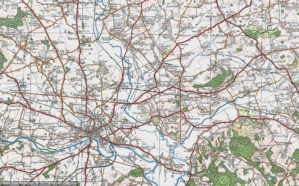 Old Map of Eau Withington, 1920 in 1920
