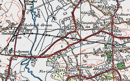 Old map of Withies in 1920