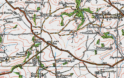 Old map of Withy Cross in 1919