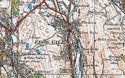 Old map of Ebbw Vale in 1919