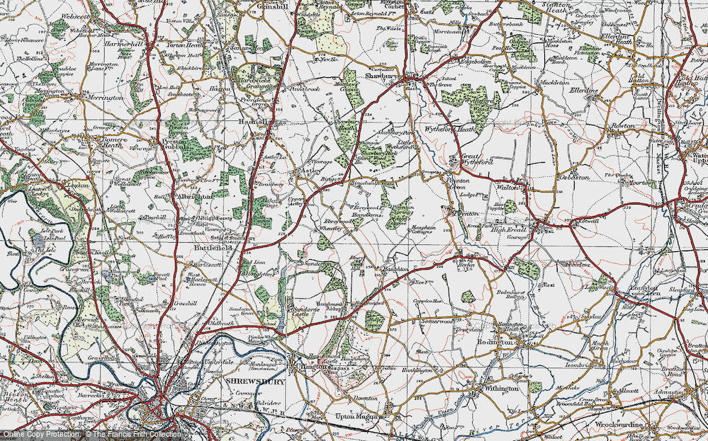 Old Map of Historic Map covering Wheatley in 1921