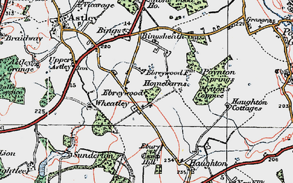 Old map of Wheatley in 1921