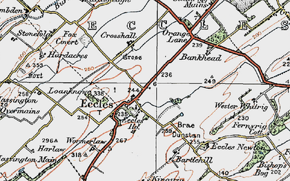 Old map of Whitrig in 1926