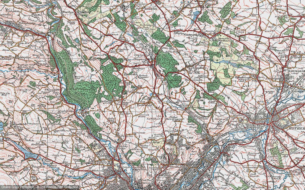 Old Map of Ecclesfield, 1924 in 1924