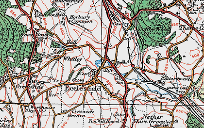 Old map of Ecclesfield in 1924